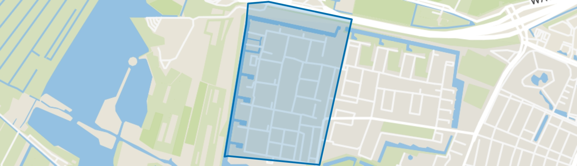 Lage Weide, Vlaardingen map