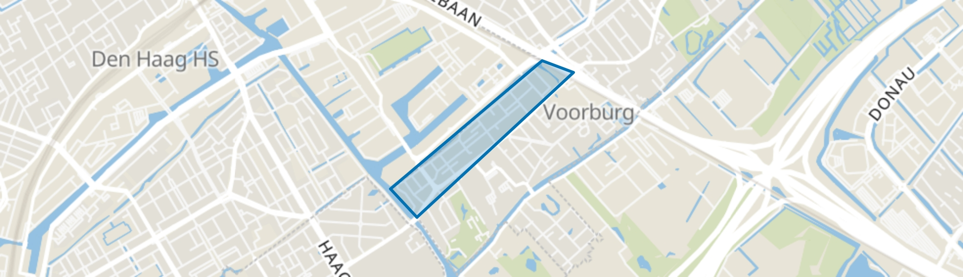 Voorburg West noord, Voorburg map