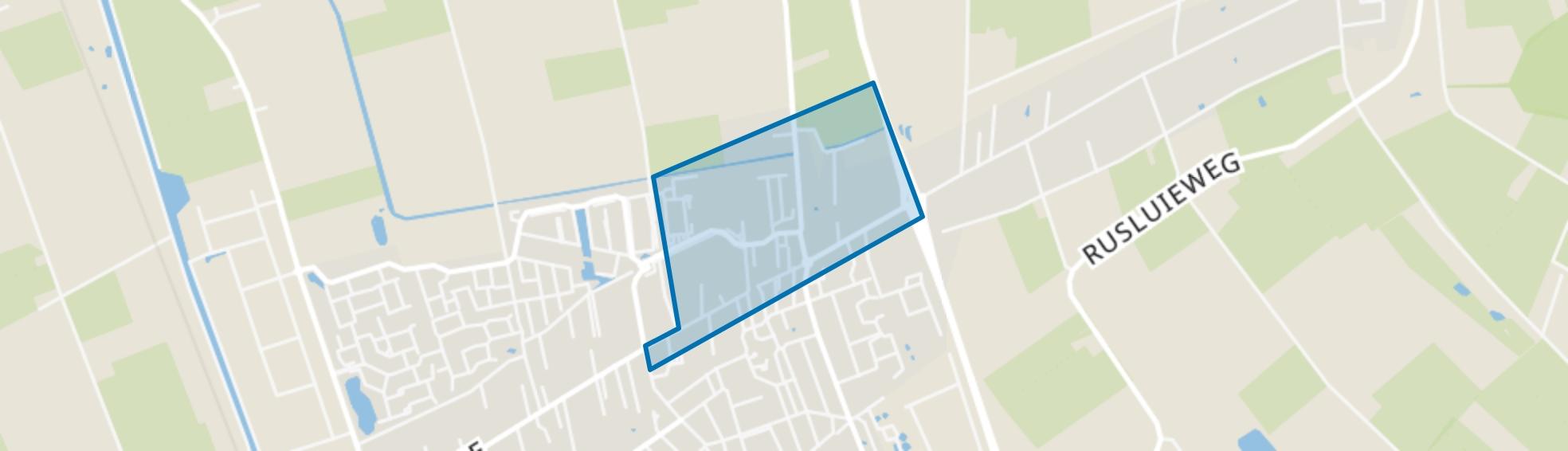 Midden, Vriezenveen map