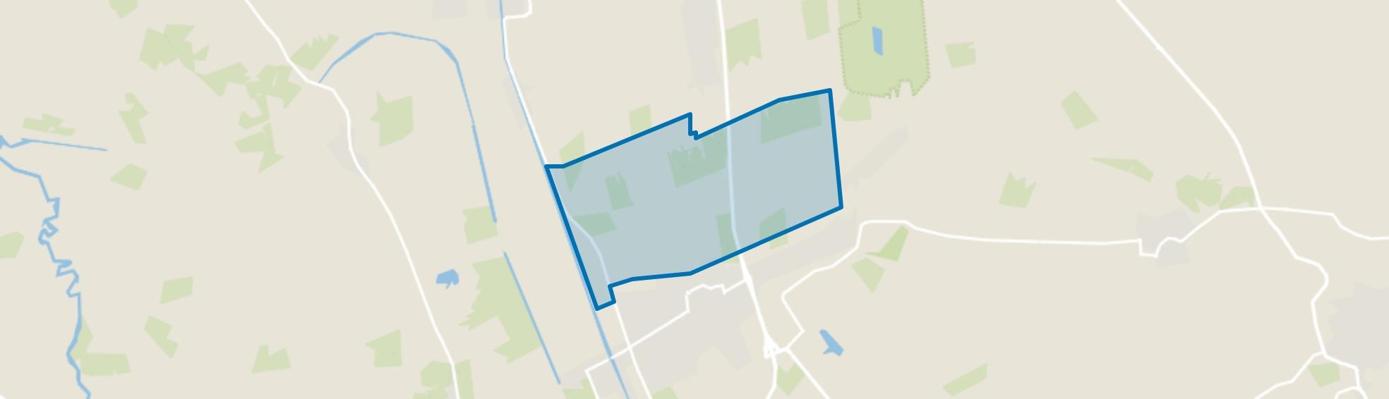 Verspreide huizen ten noorden van Vriezenveen, Vriezenveen map