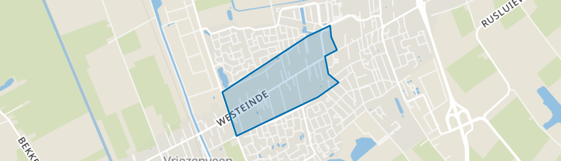 Westeinde, Vriezenveen map