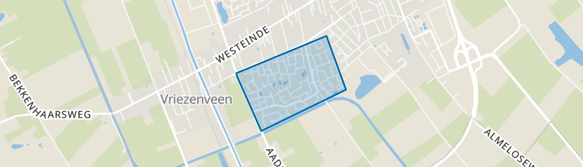 Westerweilanden-Elzenhoek, Vriezenveen map