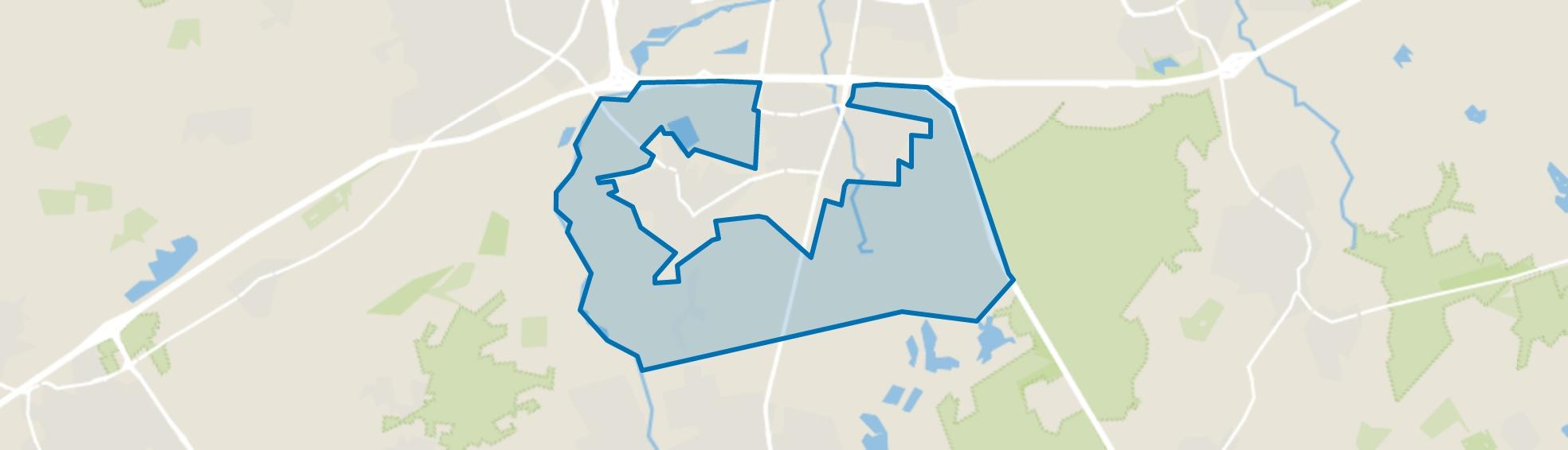 Verspreide huizen, Waalre map