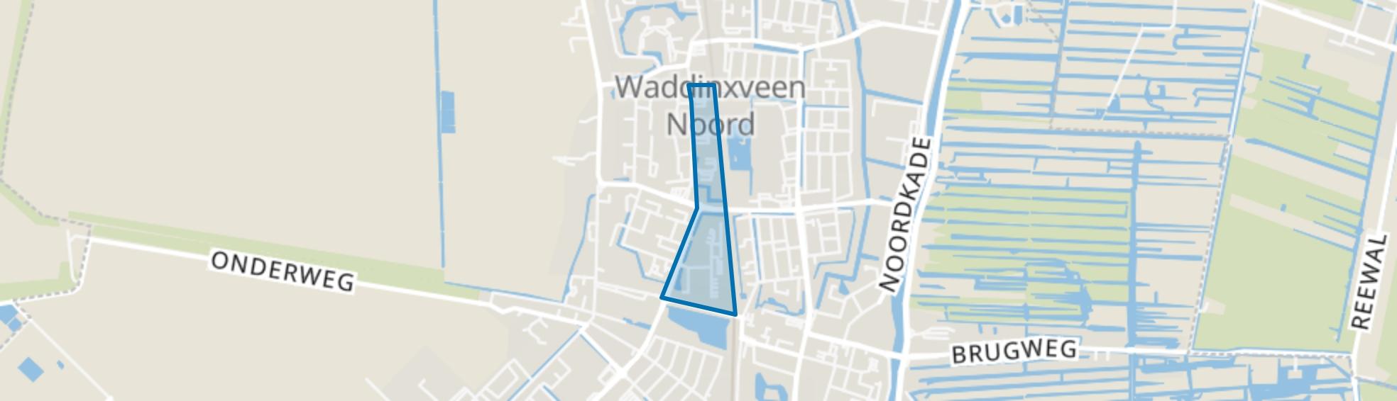 Peter Zuidlaan en Horstenbuurt, Waddinxveen map