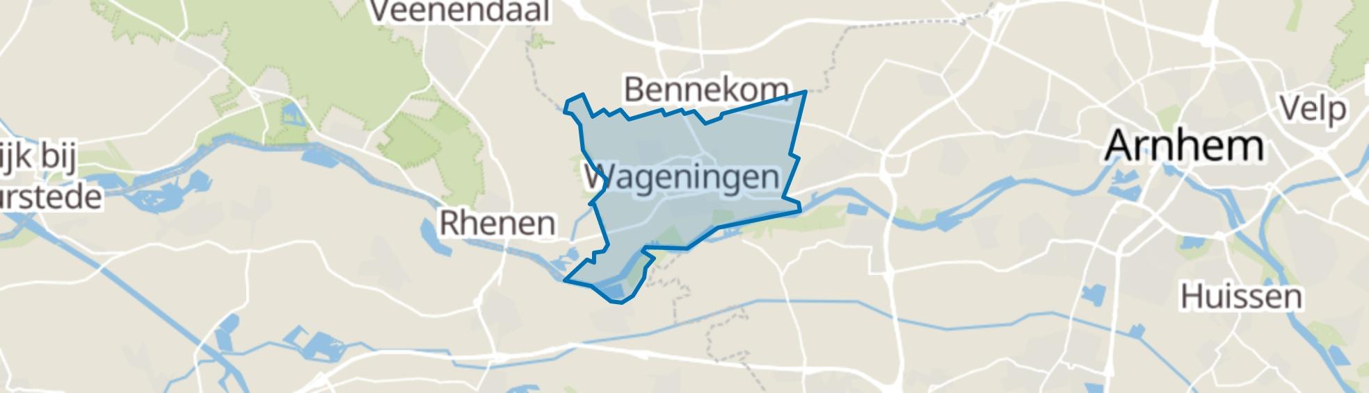 Wageningen map