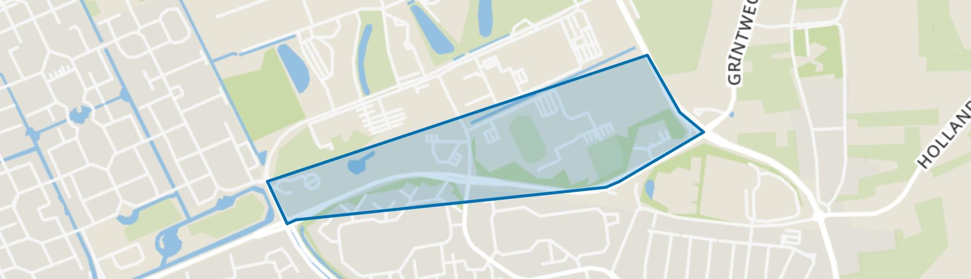 De Blauwe Bergen en de Bongerd, Wageningen map
