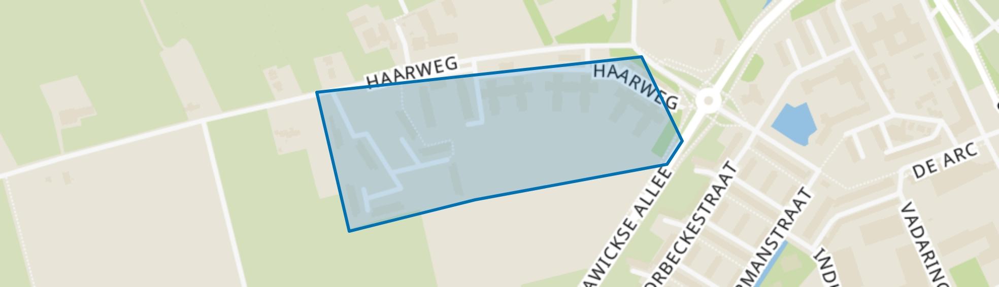 Haarweg, Wageningen map