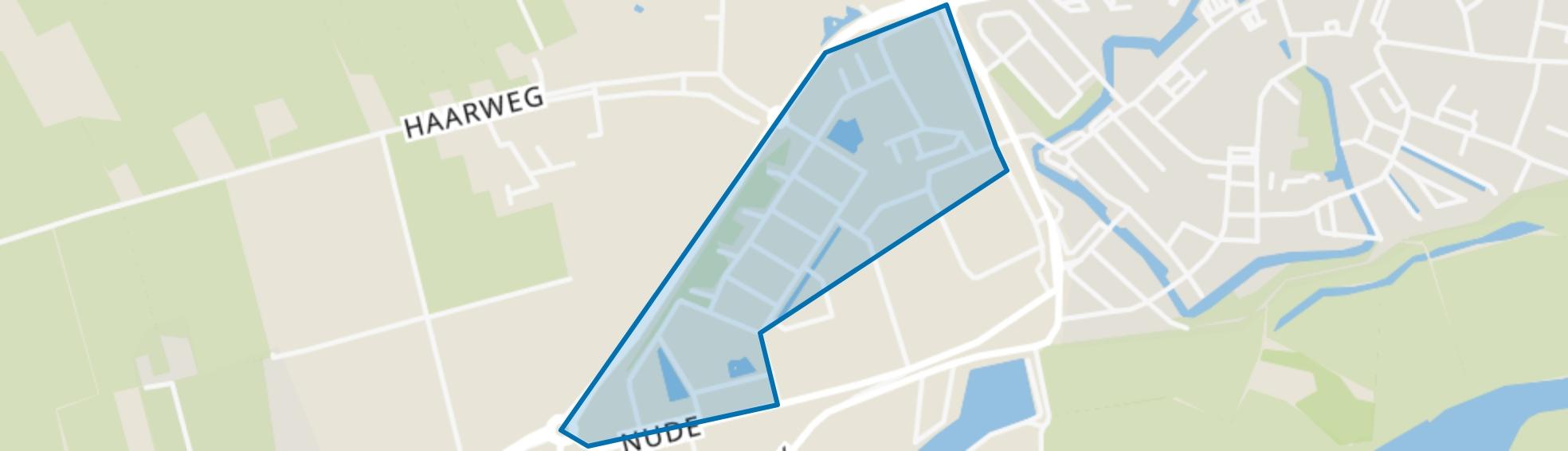 Nude-buurt, Wageningen map