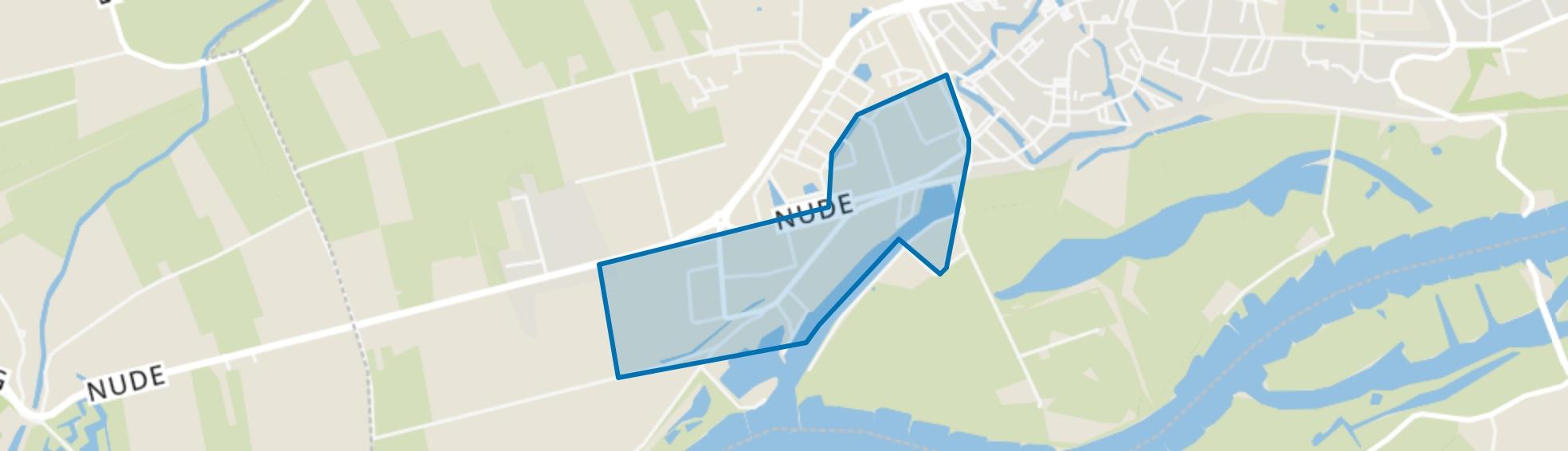 Nudepark, Rijnhaven en Industrieweg, Wageningen map