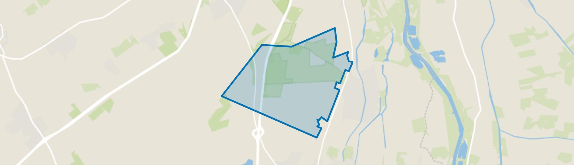 Verspreide huizen bosgebied, Wapenveld map