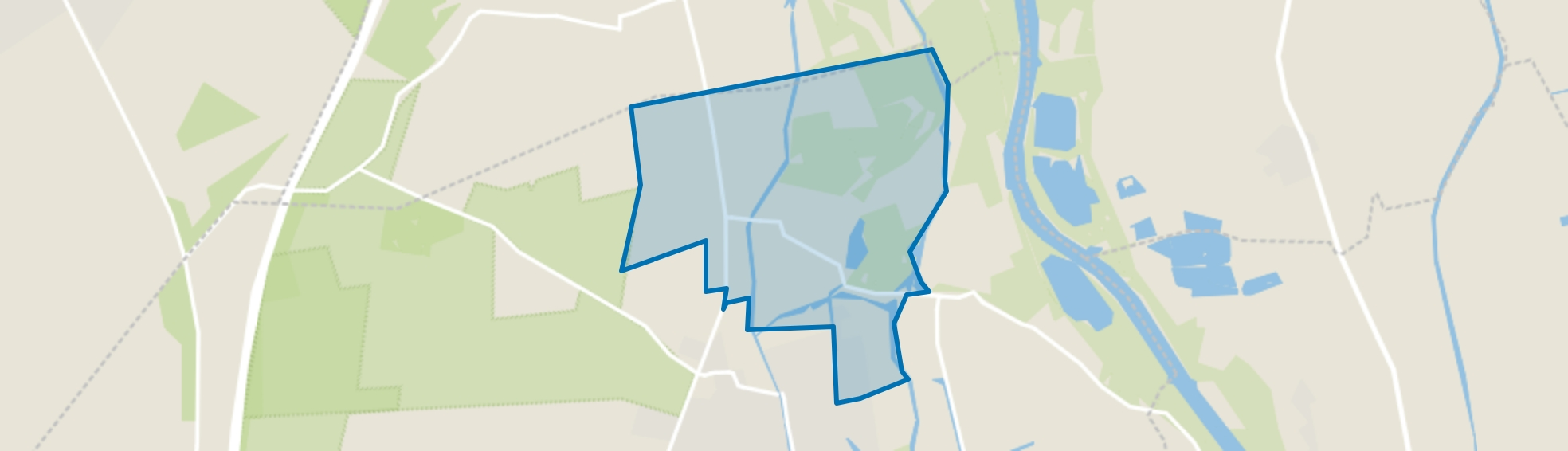 Verspreide huizen Wapenveld-Noord, Wapenveld map