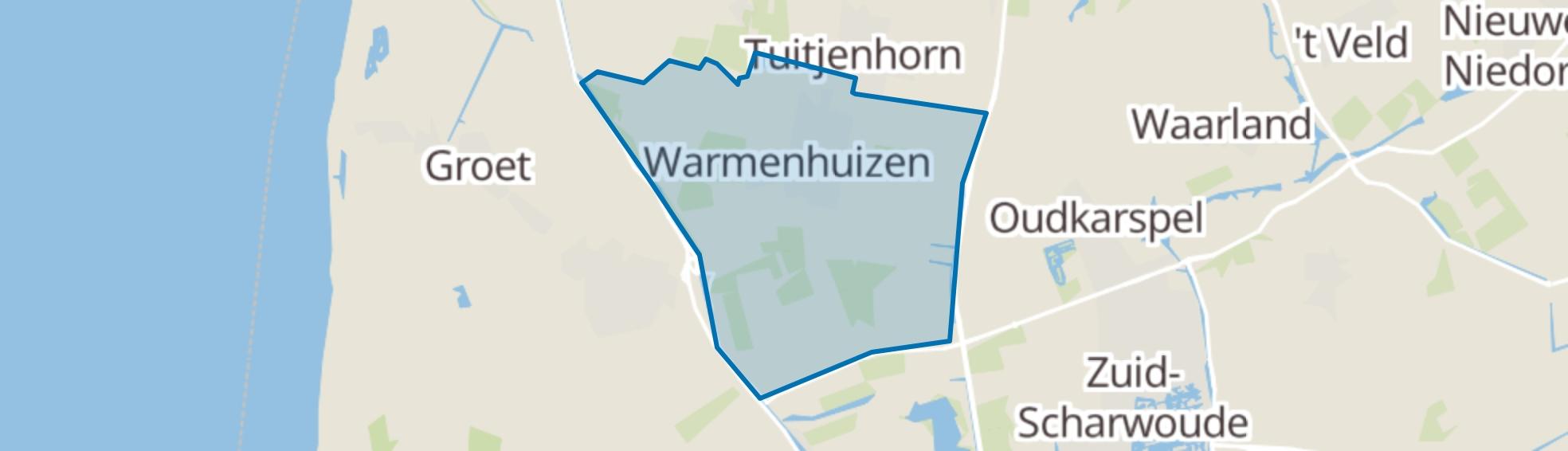 Warmenhuizen map