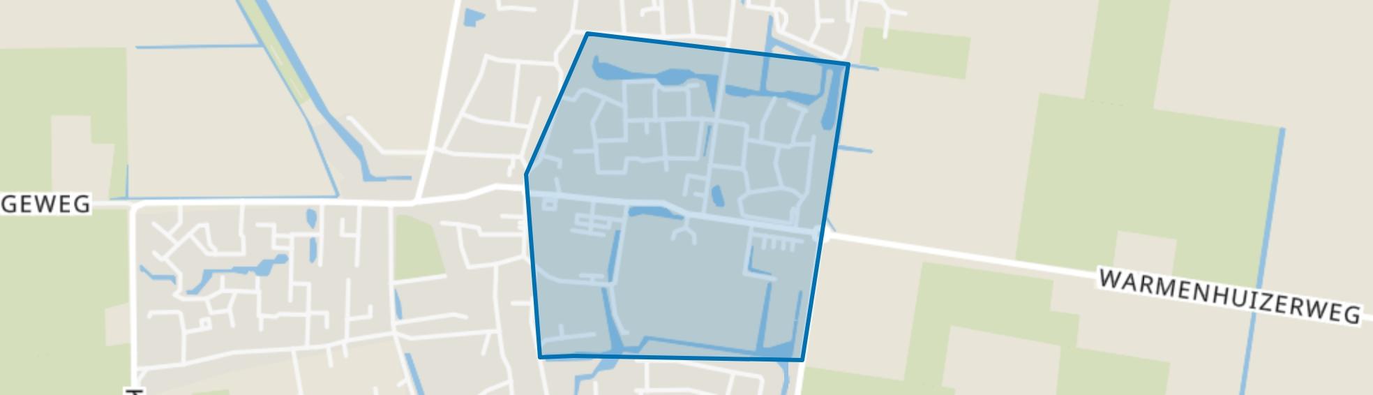 Debbemeer-Zuid, Warmenhuizen map