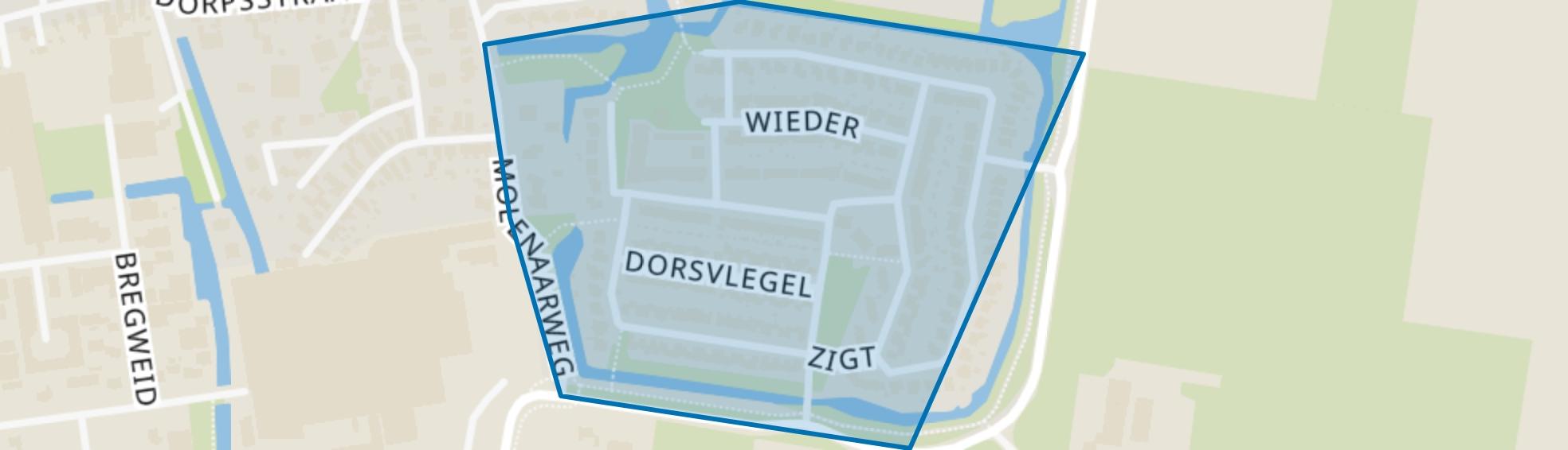 Warmenhuizen-Zuid, Warmenhuizen map