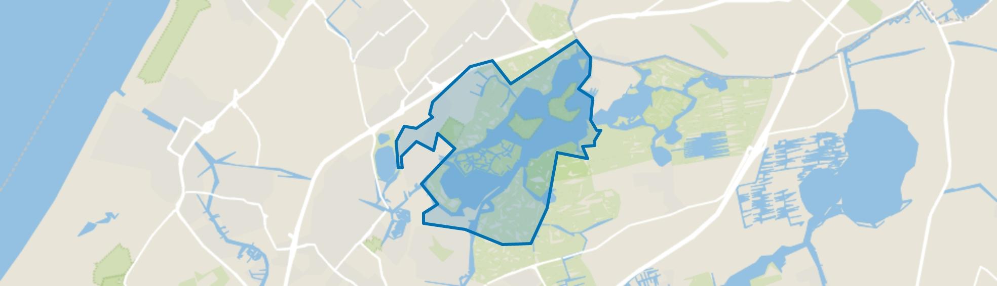 Warmond buitengebied-Oosteinde, Warmond map