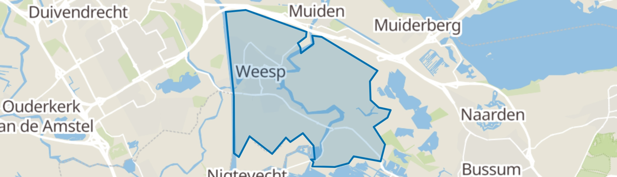 Weesp map