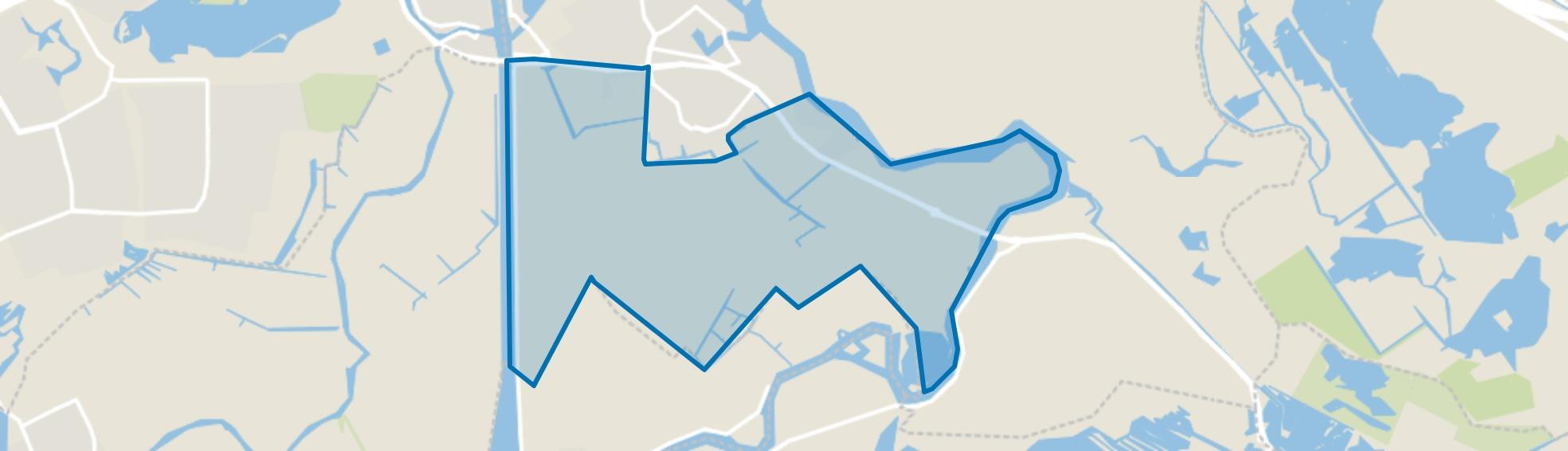 Aetsveldsepolder, Weesp map
