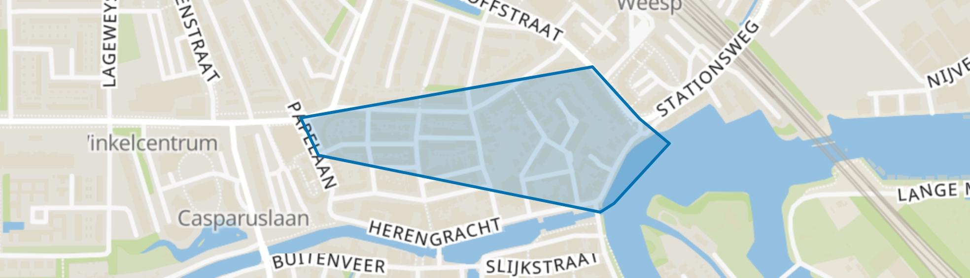 Herensingelkwartier, Weesp map