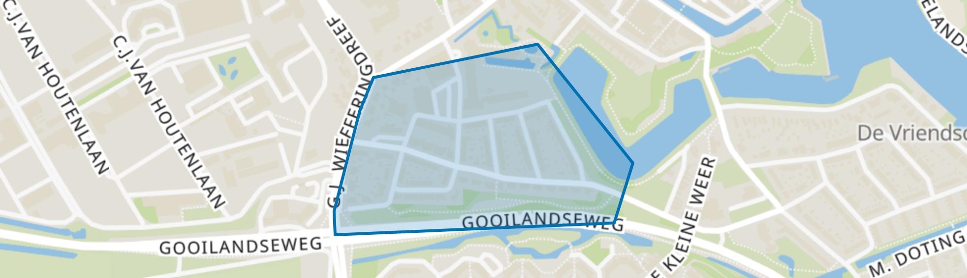 Zuid I, Weesp map