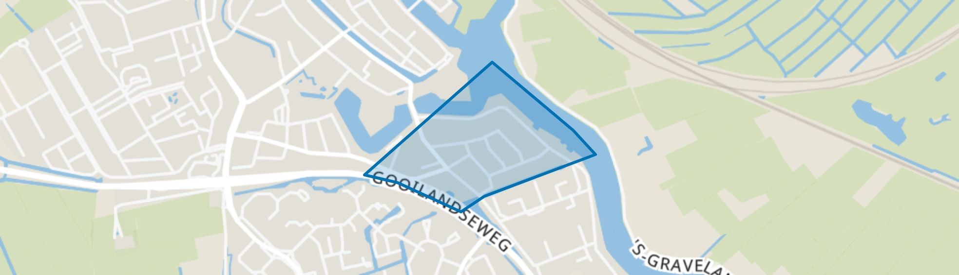 Zuid II, Weesp map
