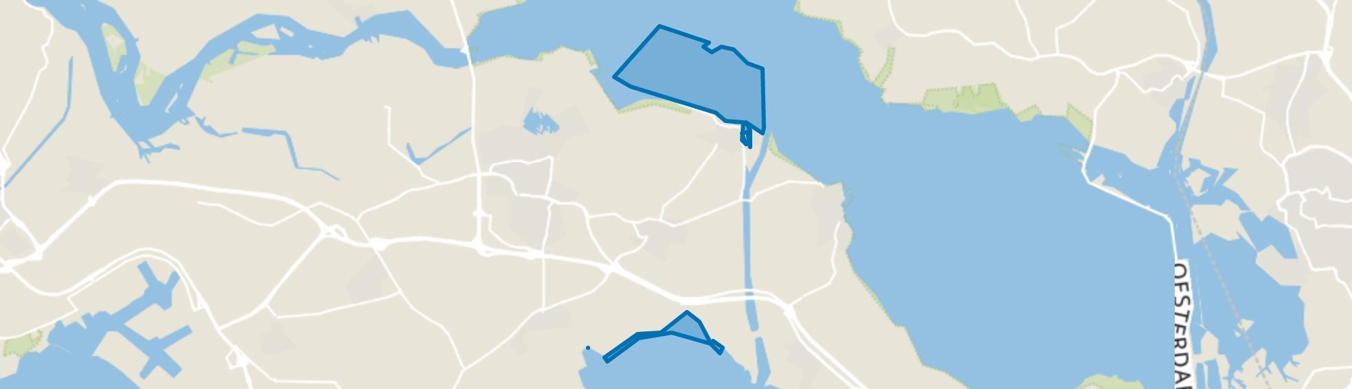 Water, Wemeldinge map