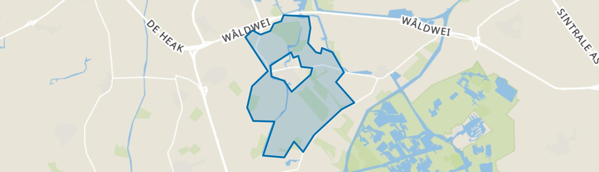 Buitengebied Wergea, Wergea map