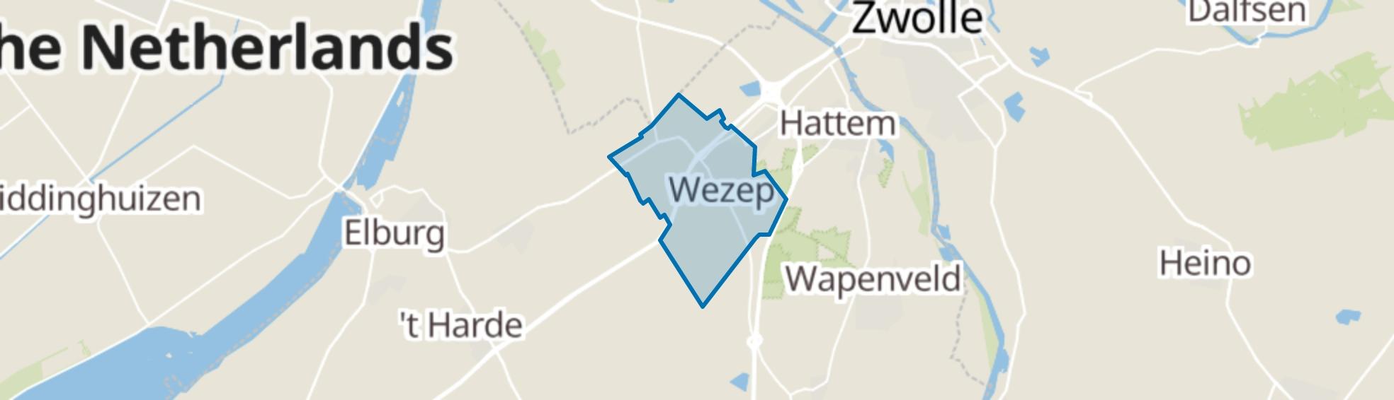 Wezep map