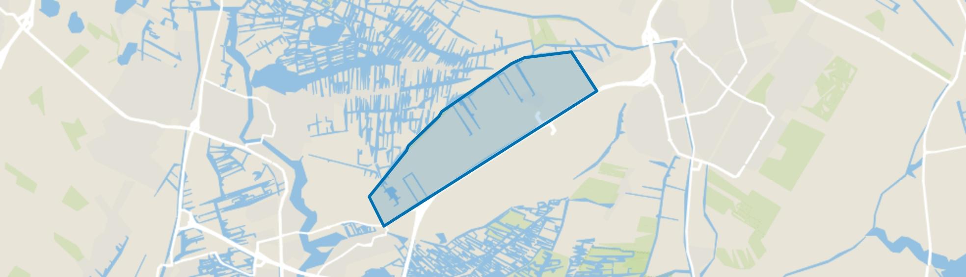 Verspreide huizen ten noorden van De Middentocht, Wijdewormer map