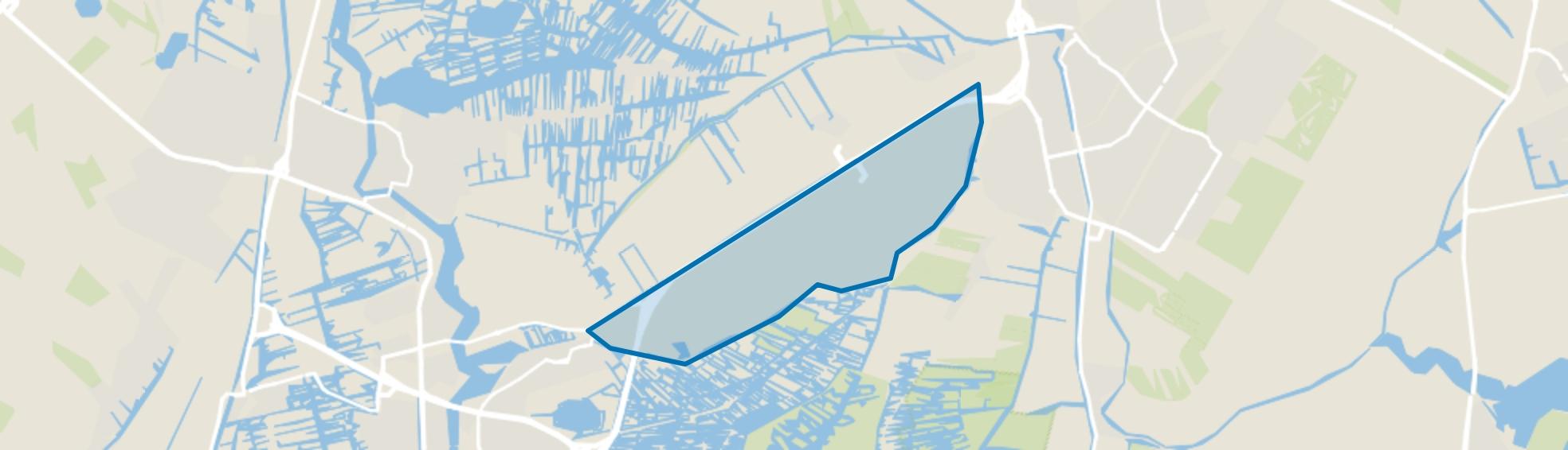 Verspreide huizen ten zuiden van De Middentocht, Wijdewormer map