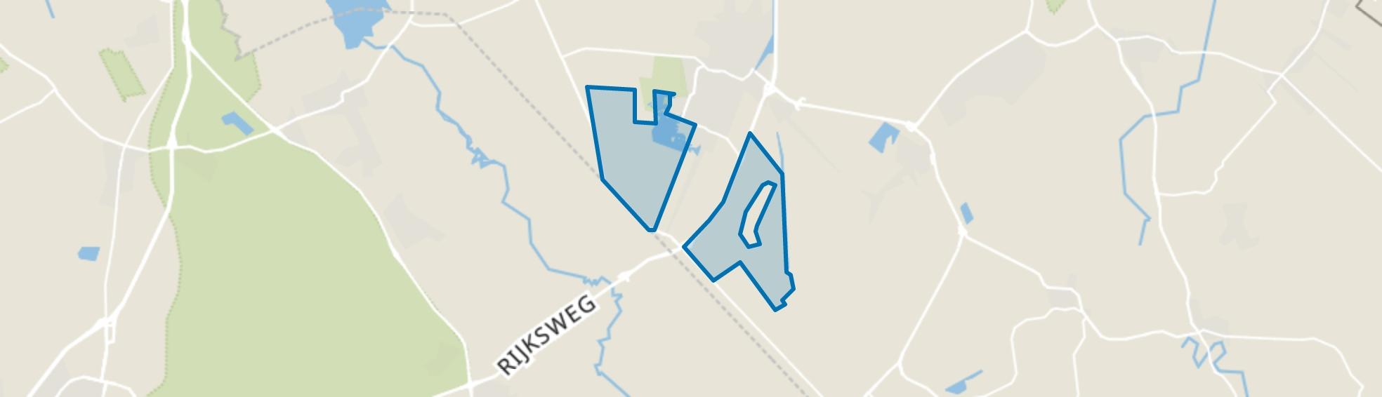 Verspreide huizen, Wildervank map