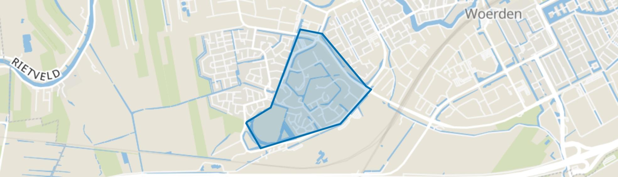 Molenvliet-Oost, Woerden map
