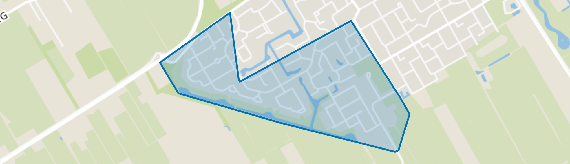 Wolvega-De Heidepolle, Wolvega map