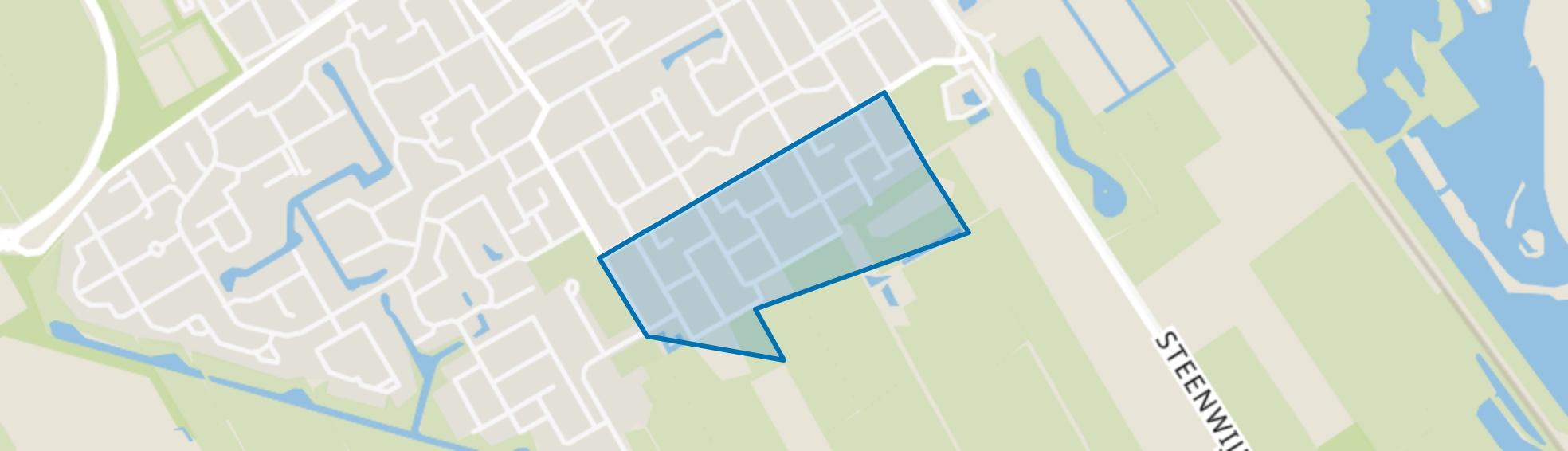 Wolvega-De Muziekbuurt, Wolvega map