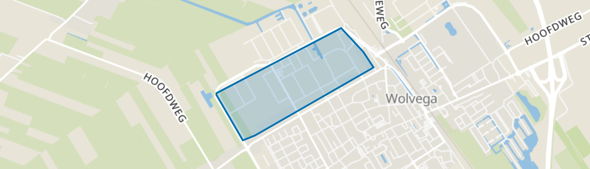 Wolvega-Om de Noort, Wolvega map