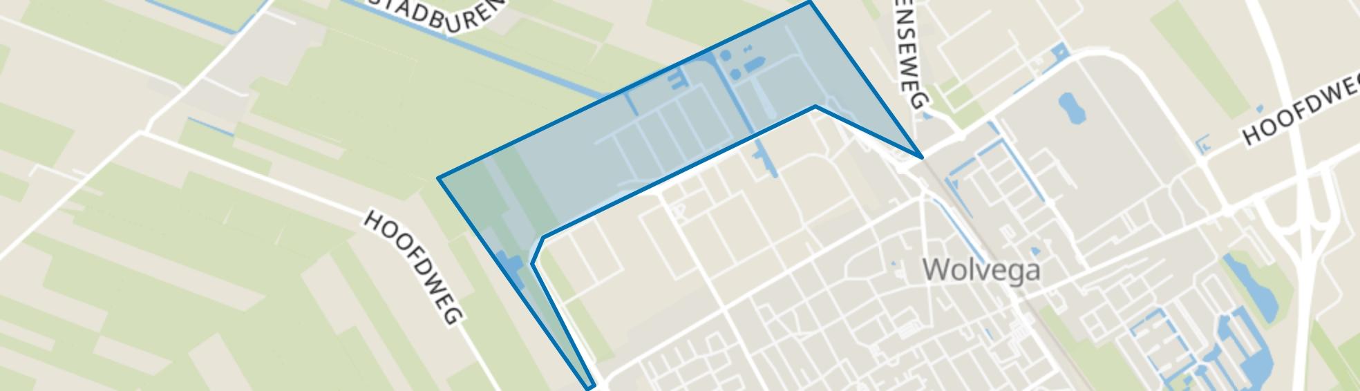 Wolvega-Schipsloot, Wolvega map