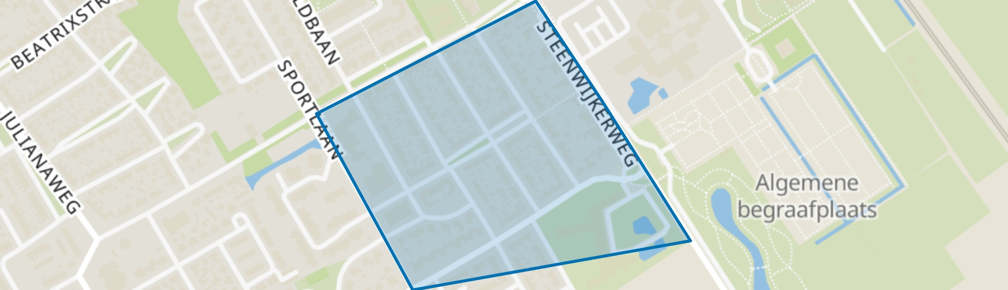 Wolvega-Staatsliedenbuurt, Wolvega map