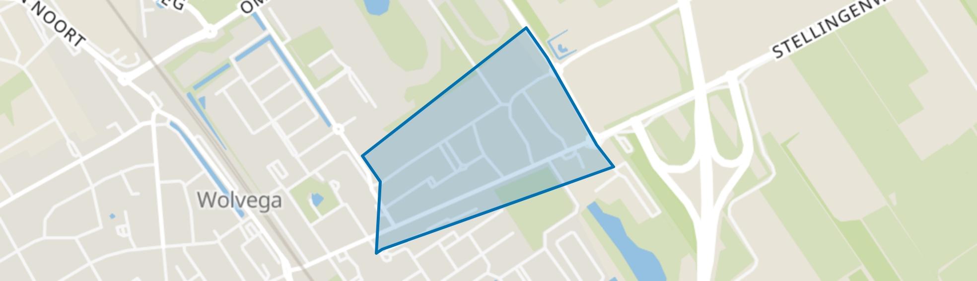 Wolvega-Tuindorp, Wolvega map