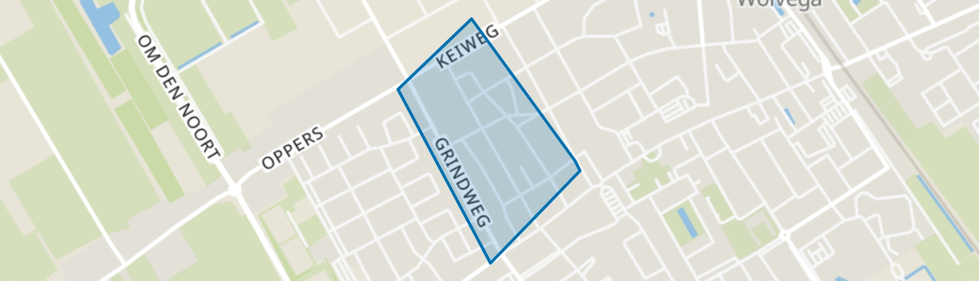 Wolvega-Vogelbuurt, Wolvega map