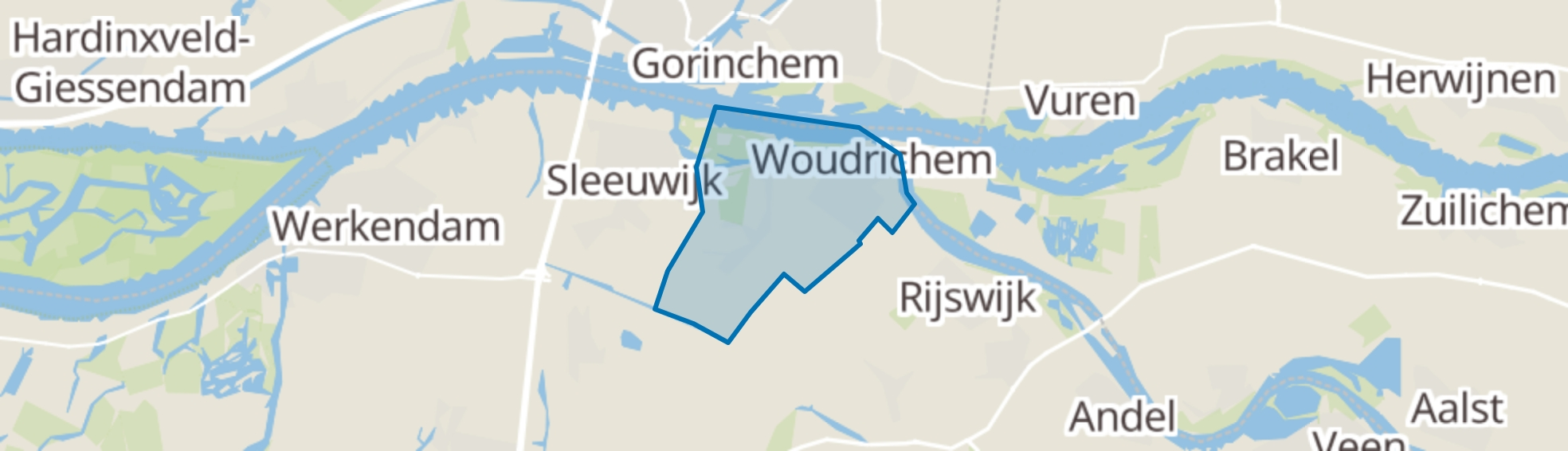 Woudrichem map