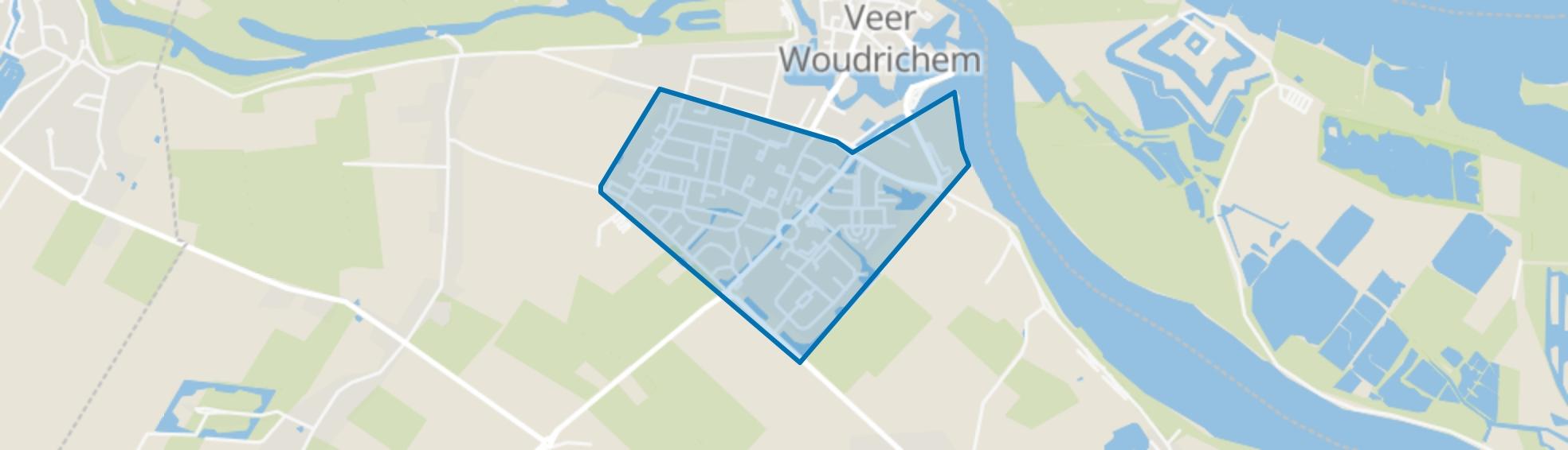 Woudrichem zuid, Woudrichem map
