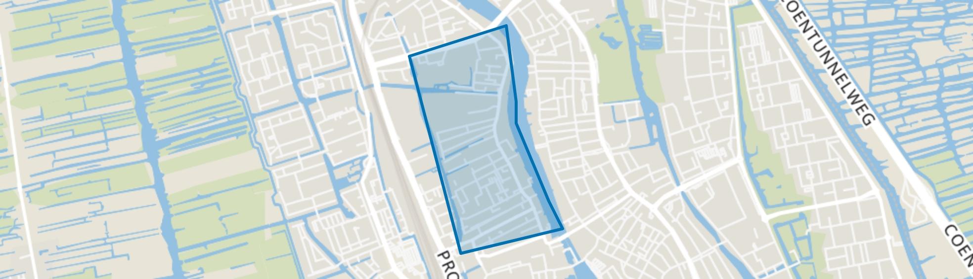 Oud West, Zaandam map