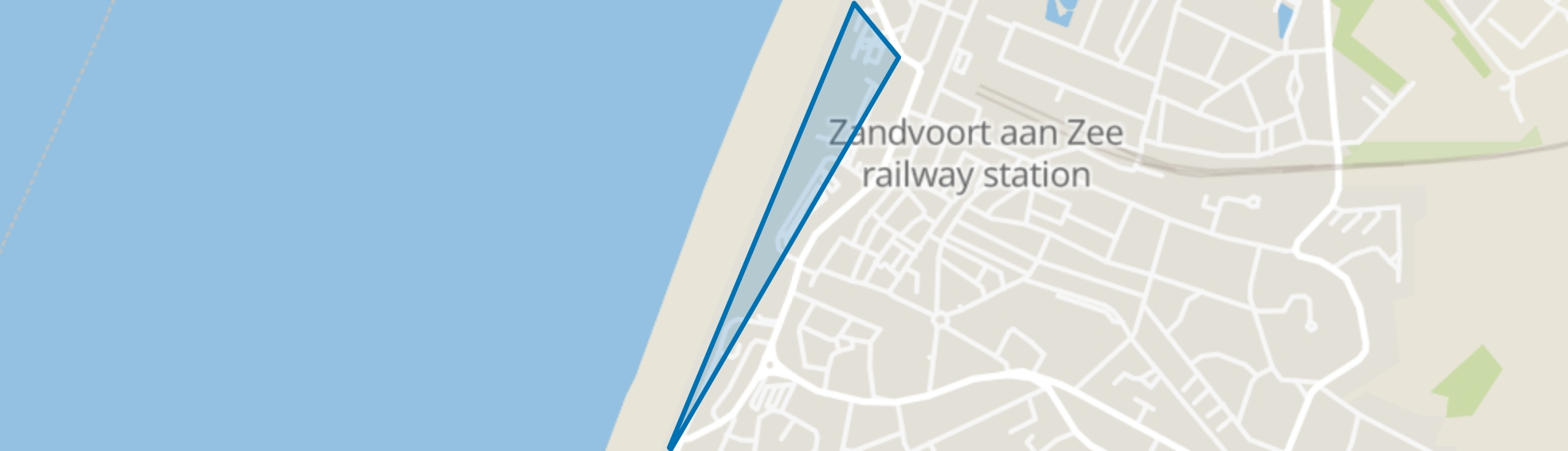 Boulevard Midden, Zandvoort map