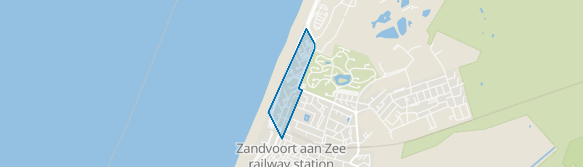 Boulevard Noord, Zandvoort map