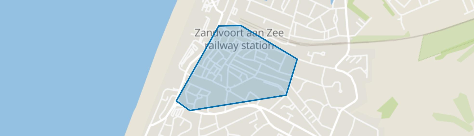 Centrum, Zandvoort map
