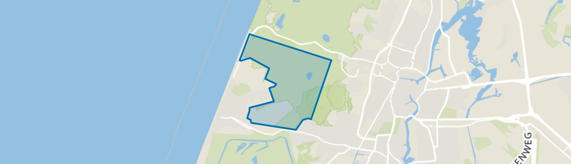 Noord duinen, Zandvoort map