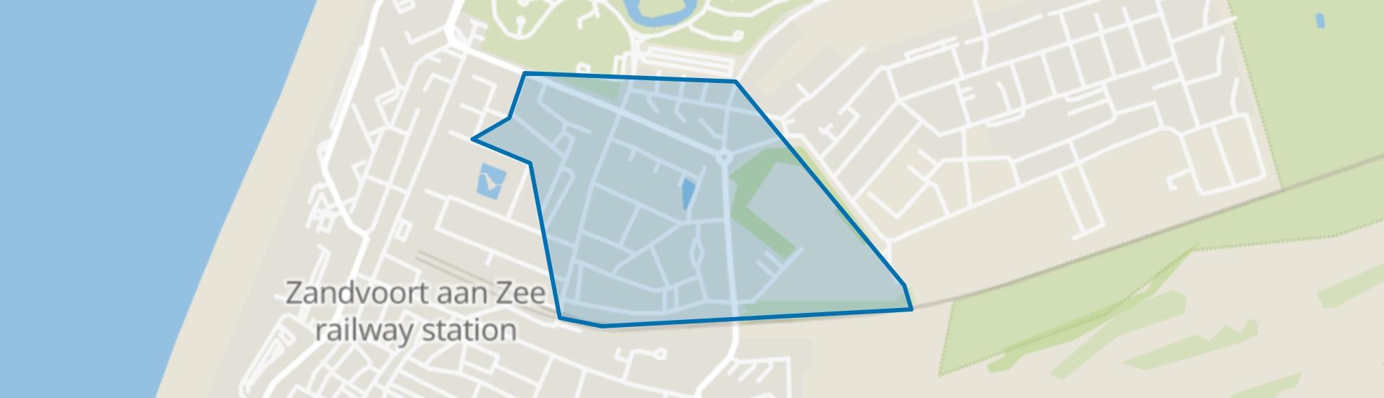Oud Noord, Zandvoort map