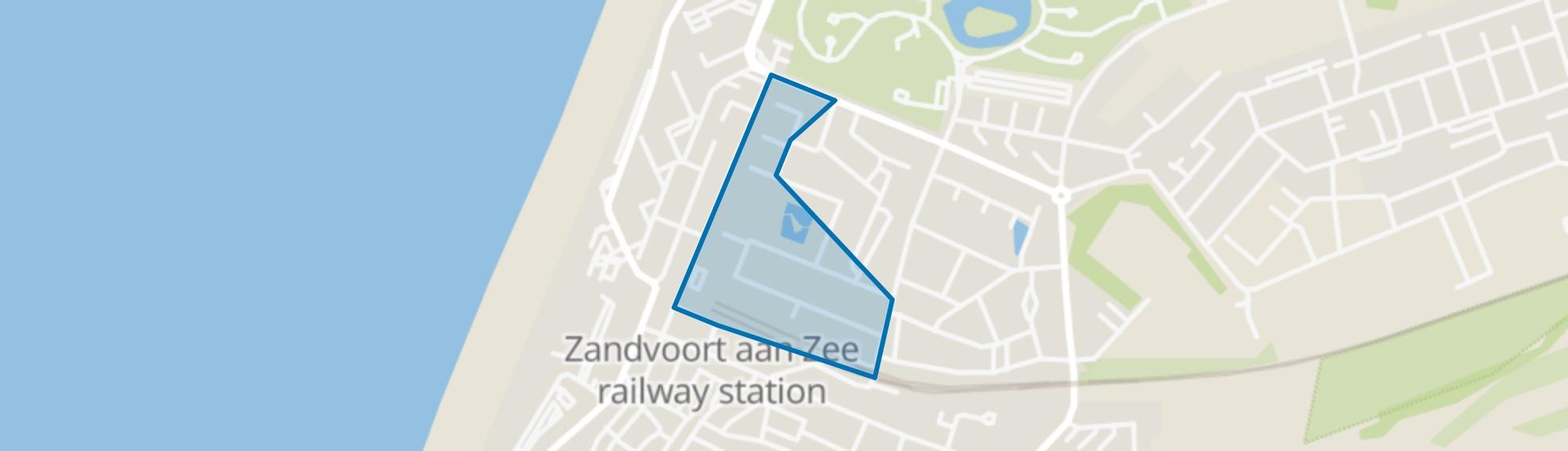 Stations omgeving, Zandvoort map