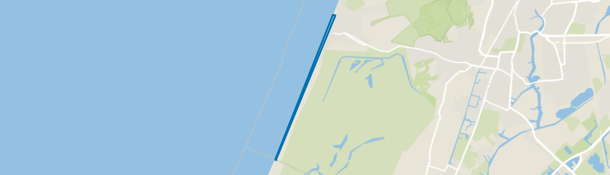 Zuid strand, Zandvoort map