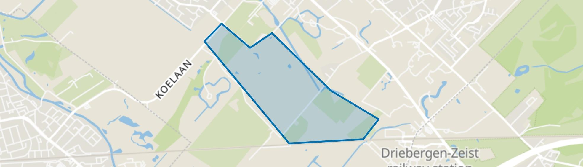 Blikkenburg e.o., Zeist map