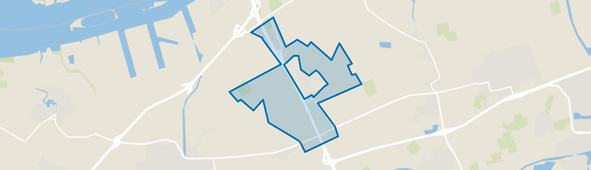 Verspreide huizen Zevenbergschen Hoek, Zevenbergschen Hoek (Gem. Moerdijk) map